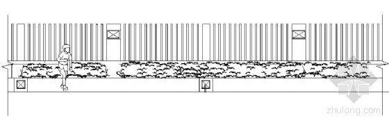围栏花池节点详图
