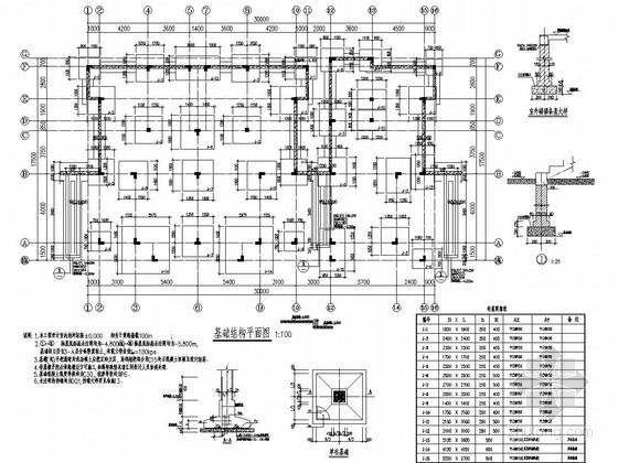 [江苏]地上三层异形柱框架结构B型低层住宅结构施工图