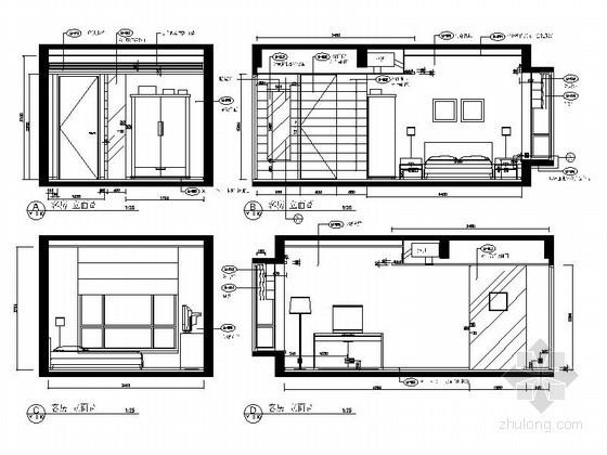 现代装修客房立面图