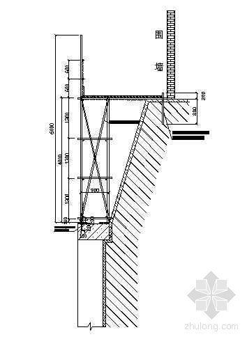 北京市某高层建筑基坑上口安全走道脚手架搭设施工方案