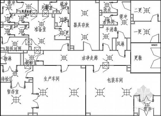 药用淀粉车间净化工程设计施工图