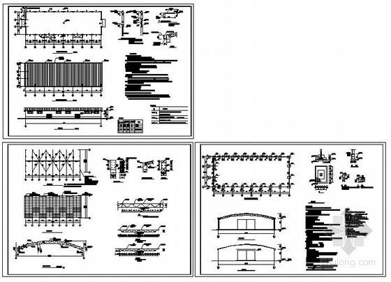 某单层轻钢结构仓库设计图