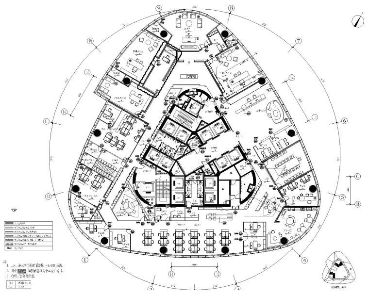 [江西]新力中心新宇建设工程有限公司办公室全套设计资料