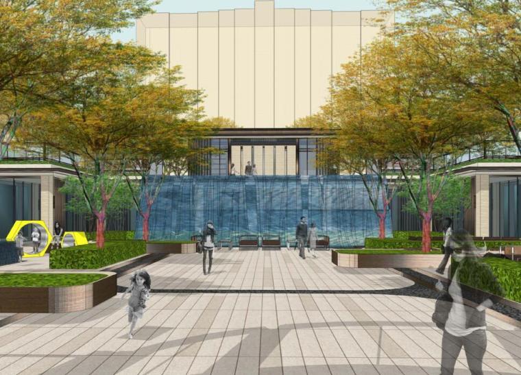[天津]海河教育园简欧风格居住区景观设计方案