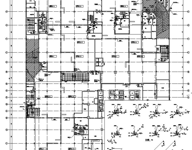 南通国贸商业建筑给排水系统施工图(CAD)