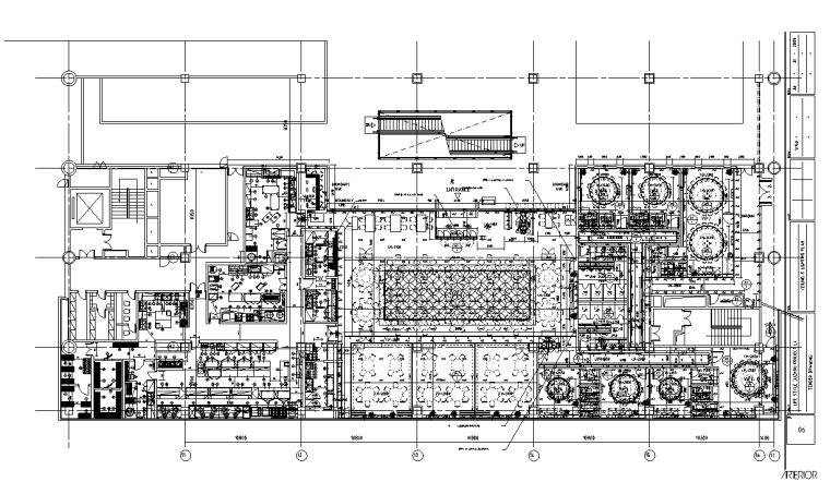 龙廷轩火锅店室内装修设计施工图纸(60张)