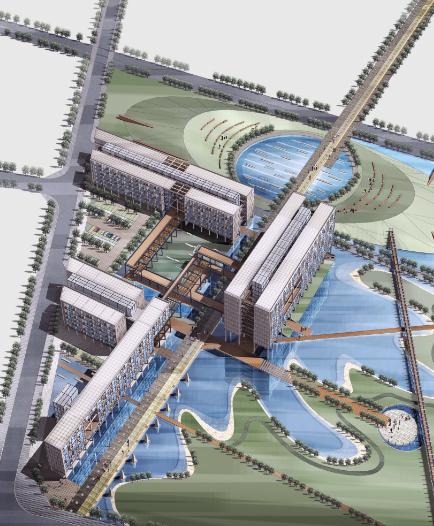 超高层现代风格未来广场项目建筑设计方案文本(含CAD)