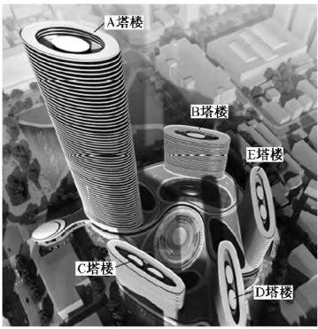 某广场大底盘多塔结构分析