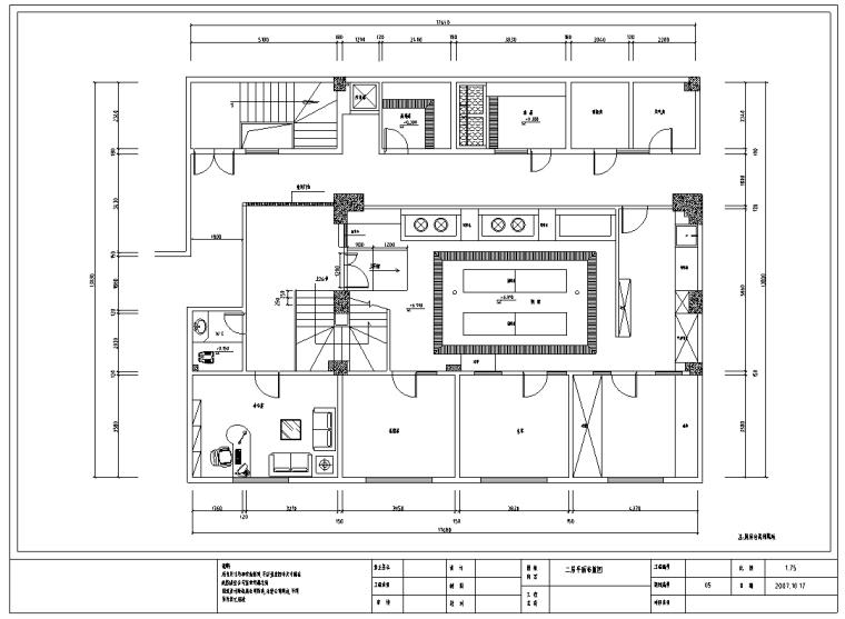 四川某川菜馆室内装修设计施工图纸(50张)