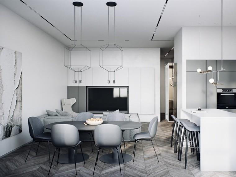 明斯克黑白灰色调现代公寓