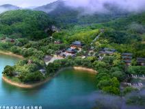 陈亮故居与普明禅寺规划设计总体鸟瞰图PSD源文件