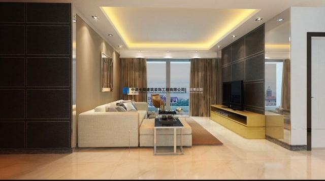 小区样板间三室两厅135平方港式风格装修效果图