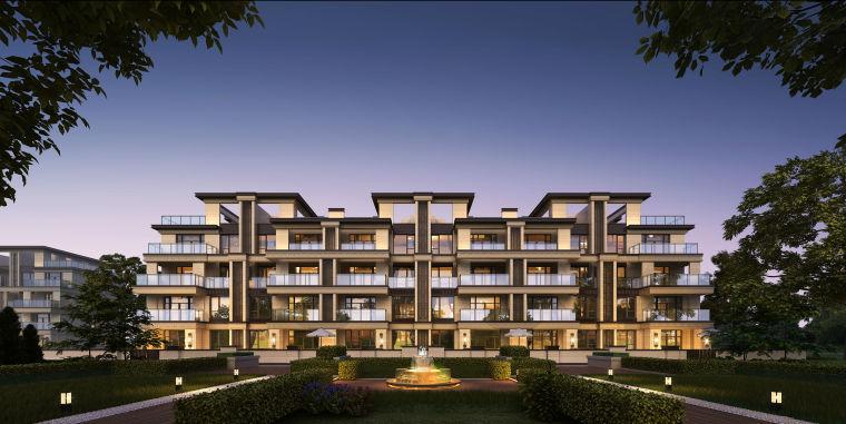 [江苏]扬州江都中海金玺洋房叠墅建筑模型设计
