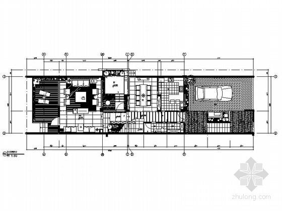 [深圳]新中式联排三层别墅施工图(含效果图)