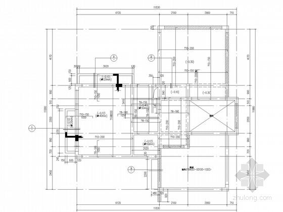 二层框架坡屋顶住宅结构施工图