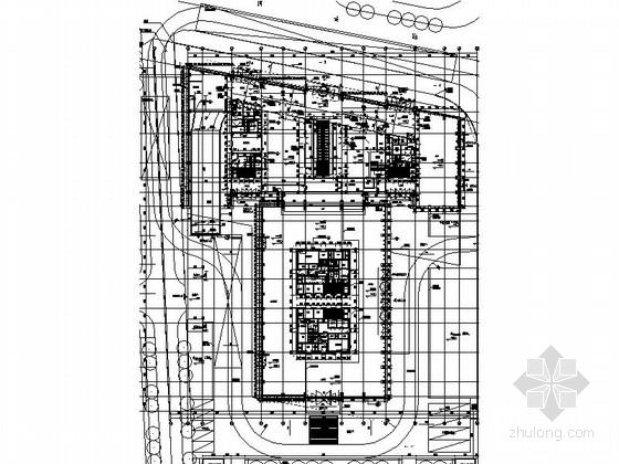 122米超高层知名企业办公总部建筑总平面图