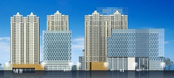 超高层住宅及商业建筑立面图