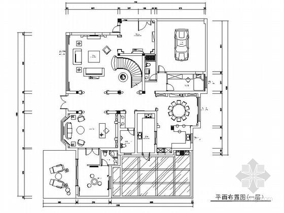[江苏]法式古典奢华温馨简约独栋别墅室内装修施工图(含效果)