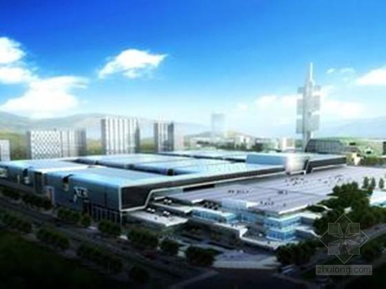 [贵州]多功能国际会展中心施工组织设计192页(含水暖电,图文并茂)