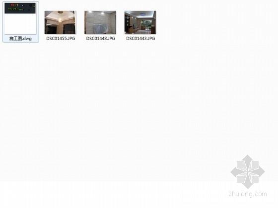 [广州]三室两厅简欧风格室内装修图 资料图纸总缩略图