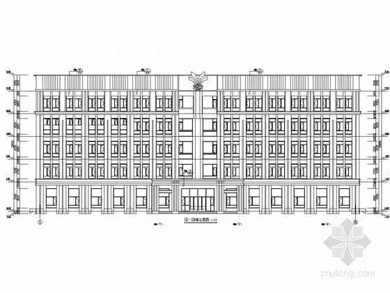 [天津]五层框架结构调度中心办公楼结构图(含建筑)