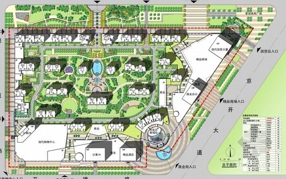 现代风格城市综合体规划总平面图