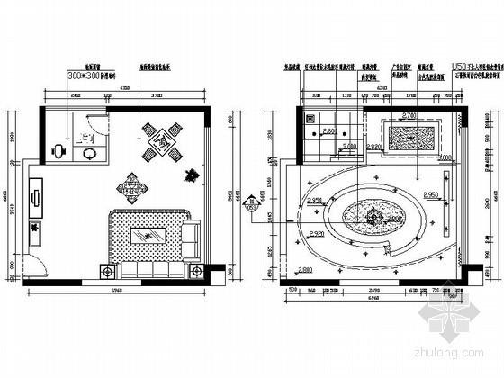 41平方西餐厅包间立面图