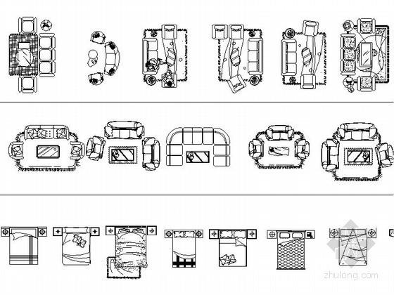 超全家装平面CAD图块下载