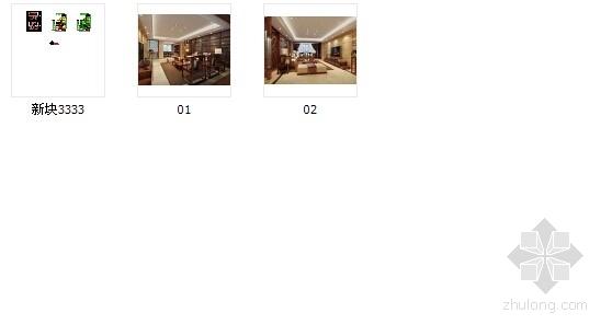 [绍兴]清雅端庄新中式风格三居室装修图(含效果图) 总缩略图
