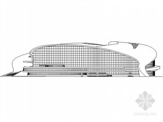 [大连]高层框架结构拱形金属屋面甲级体育游泳馆建筑施工图