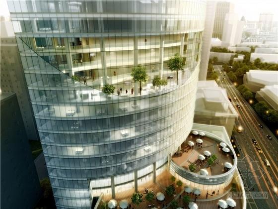[安徽]现代风格高层玻璃幕墙办公楼建筑设计方案文本