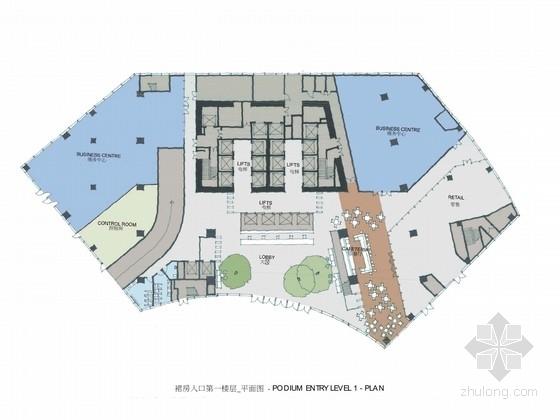 [深圳]知名互联网公司办公大厦室内设计方案(含效果图)