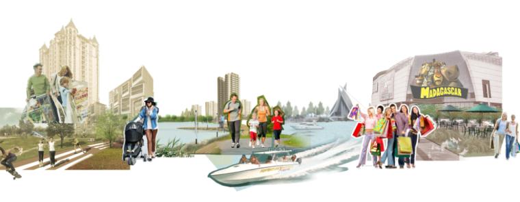 4套AECOM效果图素材-滨水休闲居住效果图psd分层源文件(4)