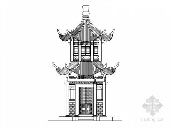 [古建]重檐六角亭施工图