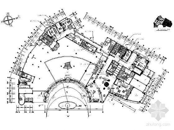 酒店大堂平面设计图