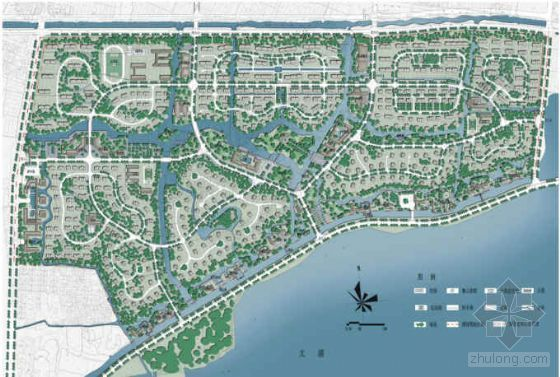 太湖滨水水景居住区景观概念性规划设计方案