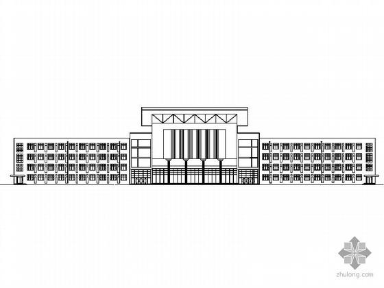 [唐山]某高中五层食堂宿舍多功能厅建筑施工图