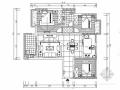 [江西]名人雅居三居室室内设计CAD施工图(含效果)