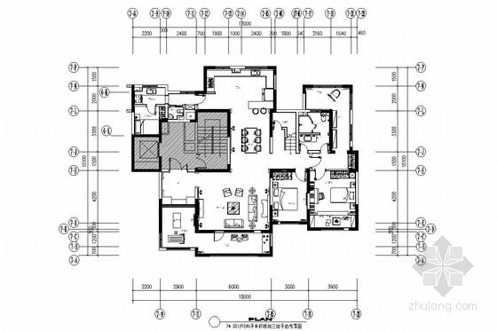 [长春]高端繁华经济中心住宅区跃层四居室装修图