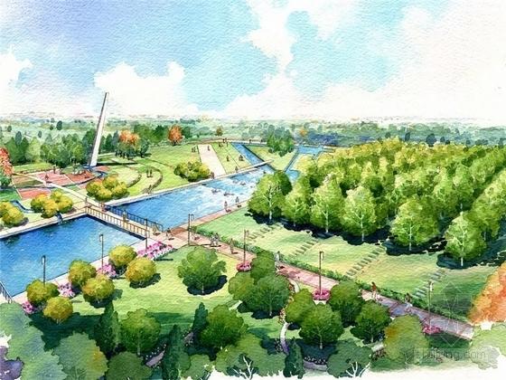 [北京]滨水现代国际新城景观规划设计方案