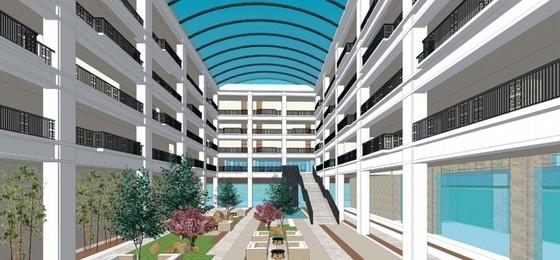 [四川]古典风格绿色度假酒店建筑设计方案文本-古典风格绿色度假酒店效果图