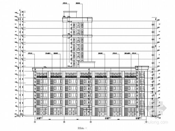 12层框架结构地质灾害防治技术中心结构施工图(含建筑图)