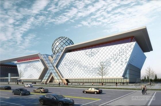 [江西]高层现代风格单体方形科技馆建筑设计方案文本(含建筑模型)