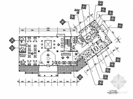 [江苏]西班牙特色田园木质售楼处室内施工图(含效果图)