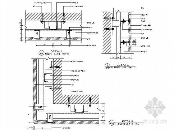成套石材装饰墙面造型节点详图CAD图块下载