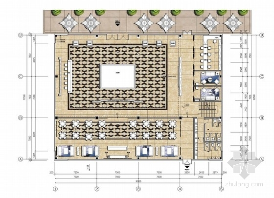 [广州]高端现代风格售楼处室内设计汇报方案