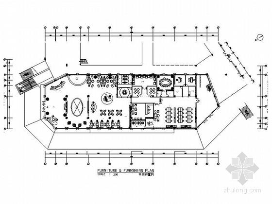 精品豪华欧式风格售楼部室内装修施工图(含效果)