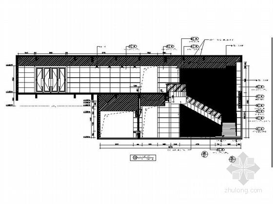 [东莞]商业股份制金融中心现代业务大楼装修施工图立面图