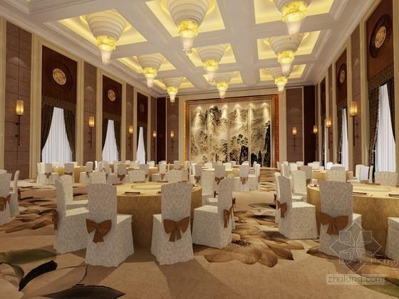多功能宴会厅3d模型下载