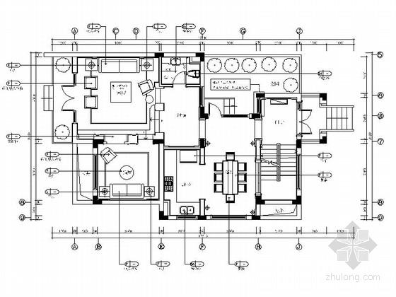 [上海]精致高贵欧式三层别墅室内施工图(含效果图)